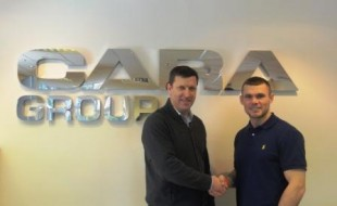 Martin is pictured alongside Neil Allen from Cara Brickwork